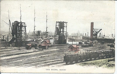 Original Vtg pc Barry Docks, Wales pu 190?