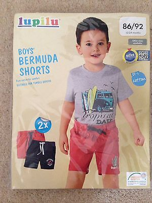 Lupilu Boys Shorts Two Pack Age 12 to 24 Months BNWT