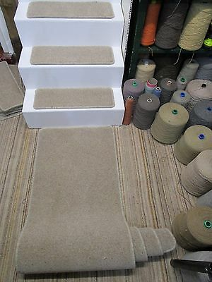 14 Grey 60 x 21cm stair pads treads plus carpet runner 60cm x 238cm 80/20 wool