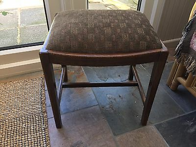 Solid Wood Reupholstered Stool