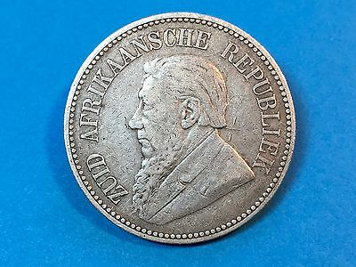 1896 South Africa 2 1/2 Shillings Silver Coin