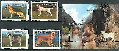 Uzbekistan 2006 dogs domestic animals set+s/s MNH