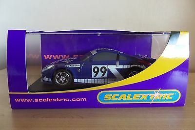 Scalextric Cars Nissan 350Z DIGITAL Blue & White New Ex Set Boxed