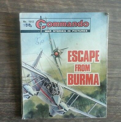 commando war stories in pictures. no.1512. Escape From Burma.