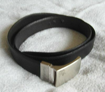 Bonded Leather Black Belt 33mm Wide English Laundry