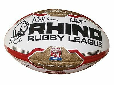 NORTH WALES CRUSADERS RLFC Official Match Rugby Ball Signed By Players & Coach