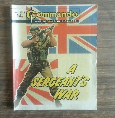 commando war stories in pictures. no.1526. A Sergeant's War.
