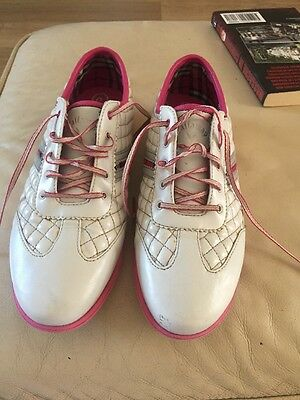 Ladies Pink And White Calloway Golf Shoes Gc Size 5