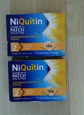 Niquitin clear patches 14 step 2 -  14mg