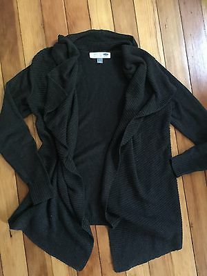 Women's Old Navy Dark Charcoal Grey Maternity Cardigan Sweater Size Medium