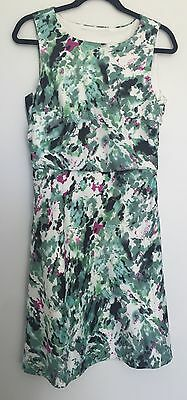 EVENTS floral abstract print sleeveless shift sun dress Size 10