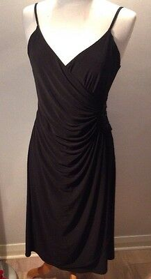 Marks And Spencer's Autograph Ladies Size 14 Black Evening Dress