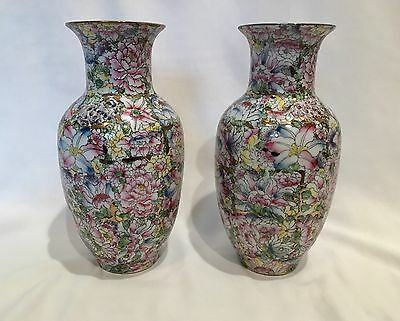 Pair of Chinese Famille Rose Republic Vases - Signed