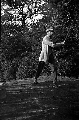 Very Rare Negative Of The Golfer Phil Gaudin In The Uk In 1921 Golf