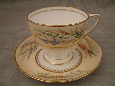 Very Rare Grainger Worcester Hand Painted Xl Cup & Saucer C1850 - 70