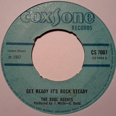 The Soul Agents - Get Ready It's Rock Steady - Coxsone Records