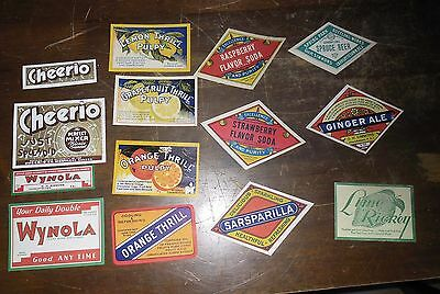 Collection of 14 Different 1910's Charlottetown Prince Edward Island Soda Labels