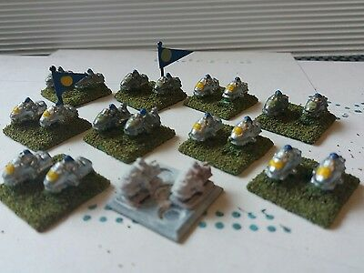 Epic 40K Imperial Guard Bikers (silver) x 10 bases