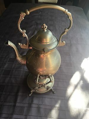 Vintage Brass Kettle with Stand and Spirit Burner