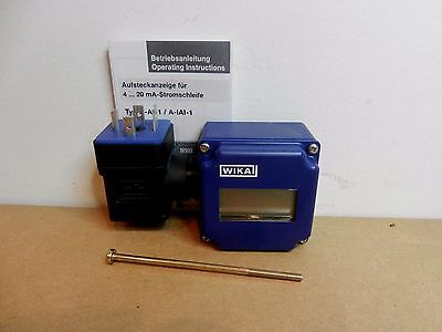 WIKA A-A1-1 4-20mA Digital Display Indicator for S-10 S-11 Pressure Transmitters