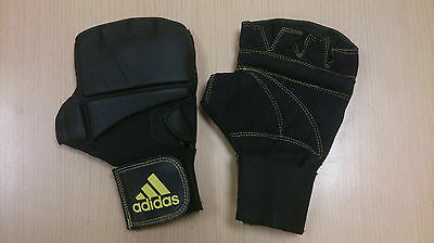 Adidas - Martial Arts / Boxing Sparring Training Gloves - Black - Adult Size S/M