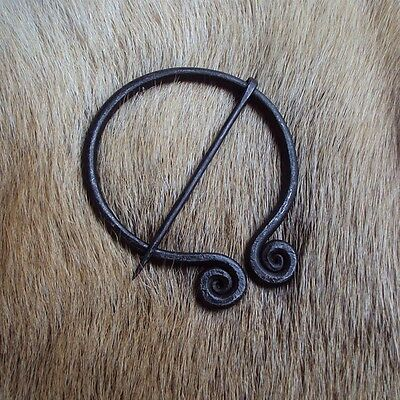 An Iron Spiralled Fibula / Brooch - Perfect For LARP Or Re-Enactment