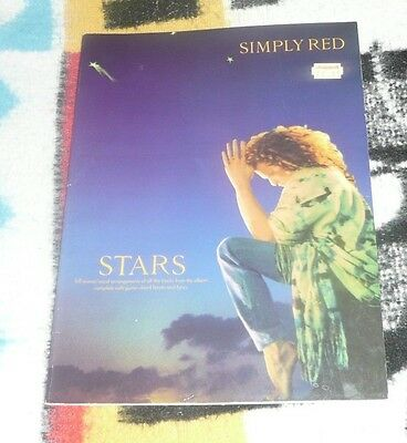 Simply Red Stars Piano Vocal Guitar Song Book FREE POSTAGE