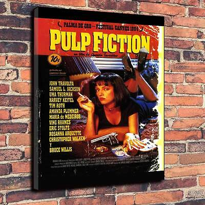 "Pulp Fiction Printed Canvas Print A1.30""x20""Deep 30mm Uma Thurman, John Travolta"
