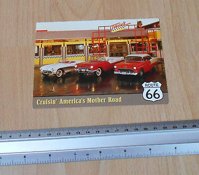 Route 66 Taxi Diner Post Card