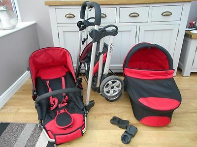 iCandy Cherry Black/Red Travel System Single Seat Stroller