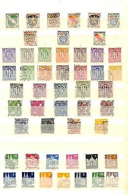 [OP4750] Germany lot of stamps on 12 pages - see photos in description