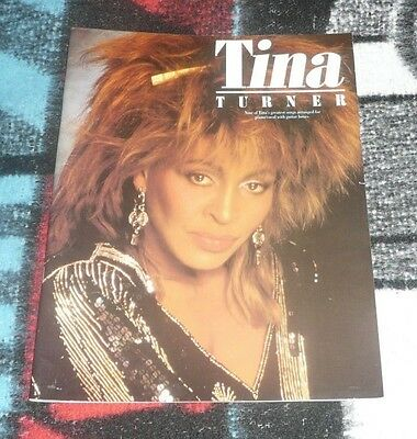 Tina Turner 9 Greatest Songs Songbook for Vocal Piano Guitar Over 30 Years Old !