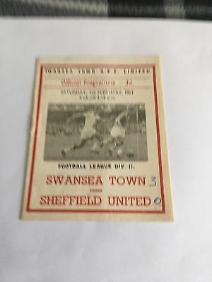 Swansea Town v Sheffield United 4/2/1961