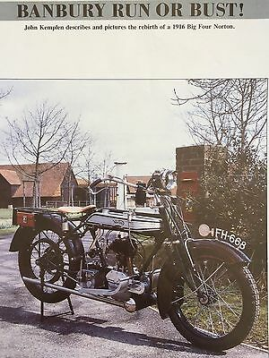 Norton 1916 Big Four - 5 Page Motorcycle Article