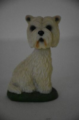 Preowned West Highland Terrier Bobblehead Figurine