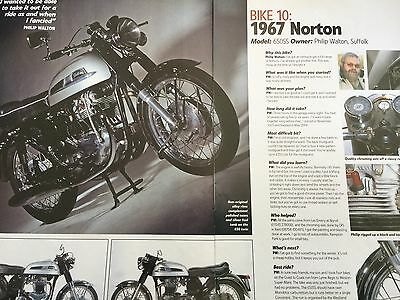 Norton 650Ss 1967 - Owner Profile / Bike Of The Year - 2 Page Motorcycle Article