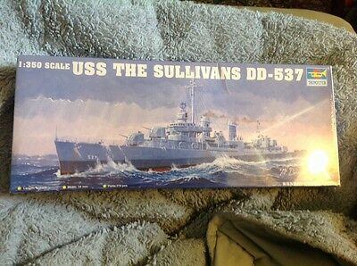 USS Sullivans 1:350 ship model by Trumpeter new