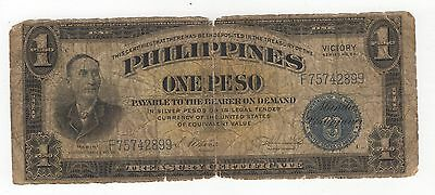 "PHILIPPINES   1944     "" VICTORY  SERIES  66 ""     1 Peso    NOTE"