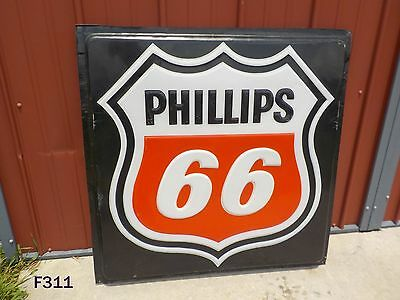 Vintage Phillips 66 Petroleum Oil Company Original Gas Station Sign Plastic