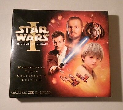 Star Wars Episode I The Phantom Menace Widescreen Video Collector's Edition VHS