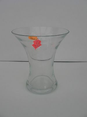 """Contemporary Clear Glass Vase    -    5.5""""H  x  5""""Top  x  3""""Base"""