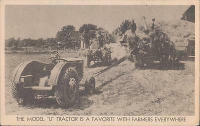 Advertising Postcard Allis-Chalmers Model U Tractor A Favorite With Farmers