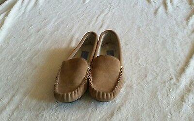 Leather Moccasin Slippers By Slouch Size Uk 5