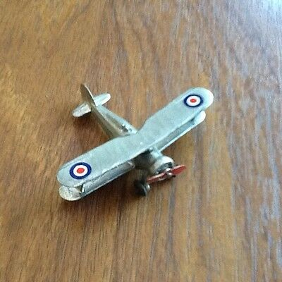Dinky Toys aircraft Gloster Gladiator. Model 60p. silver