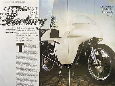 Norton Tx750 Racer 1975 - 4 Page Motorcycle Article