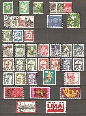 West Germany; 52 used stamps