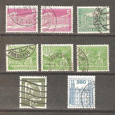 Berlin; 8 used stamps