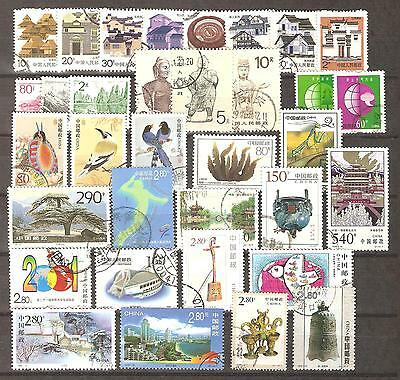 China 1986-2002; 35 stamps, used