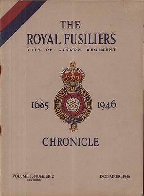 Royal Fusiliers Chronicle Journal 1946 British Army London Regiment RRF History
