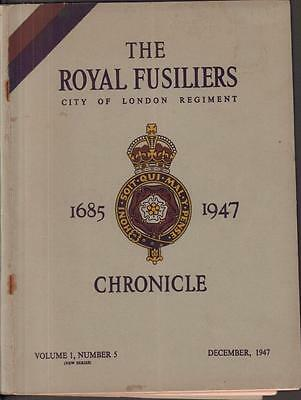 Royal Fusiliers Chronicle Journal Dec 1947 British Army London Regiment soldiers
